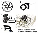 10'' 255mm Giant Rotor and Adapter for Mountain Bike Rear Wheel