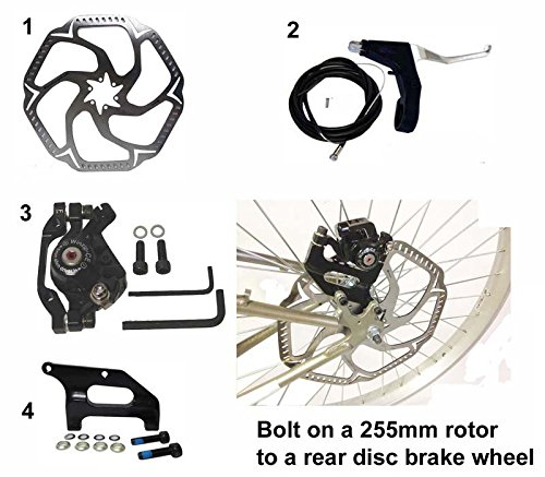 10'' 255mm Giant Rotor and Adapter for Mountain Bike Rear Wheel by BicycleDesigner