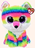 """River the Wolf Beanie Boo by Ty - 9"""" Medium - Plus bonus sticker - Exclusive offers"""