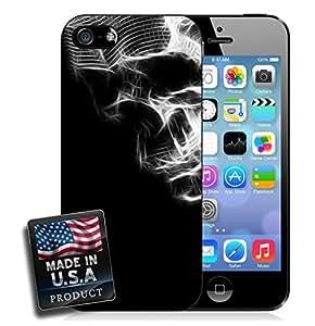 White Glowing Spiderwebs Skull Night iPhone 5/5s Hard Case