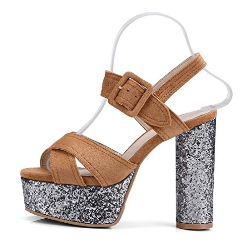 caramello le le lustrini sandali sono donne alto tacco 36 sandali night di bocca sandali pesce color e scarpe violento sandali club sexy ggRSwqnr