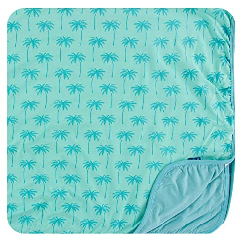 Kickee Pants Cancun Print Toddler Blanket - Glass Palm Trees