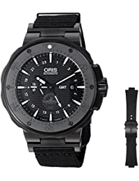 Mens Force Recon Gmt Swiss Automatic Titanium and Rubber Dress Watch, Color: Oris