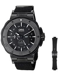 Oris Men's 74777157754SET Force Recon Gmt Analog Display Swiss Automatic Black Watch