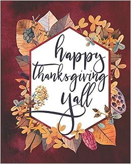 Happy Thanksgiving Yall >> Happy Thanksgiving Yall Meal Planner November Schedule
