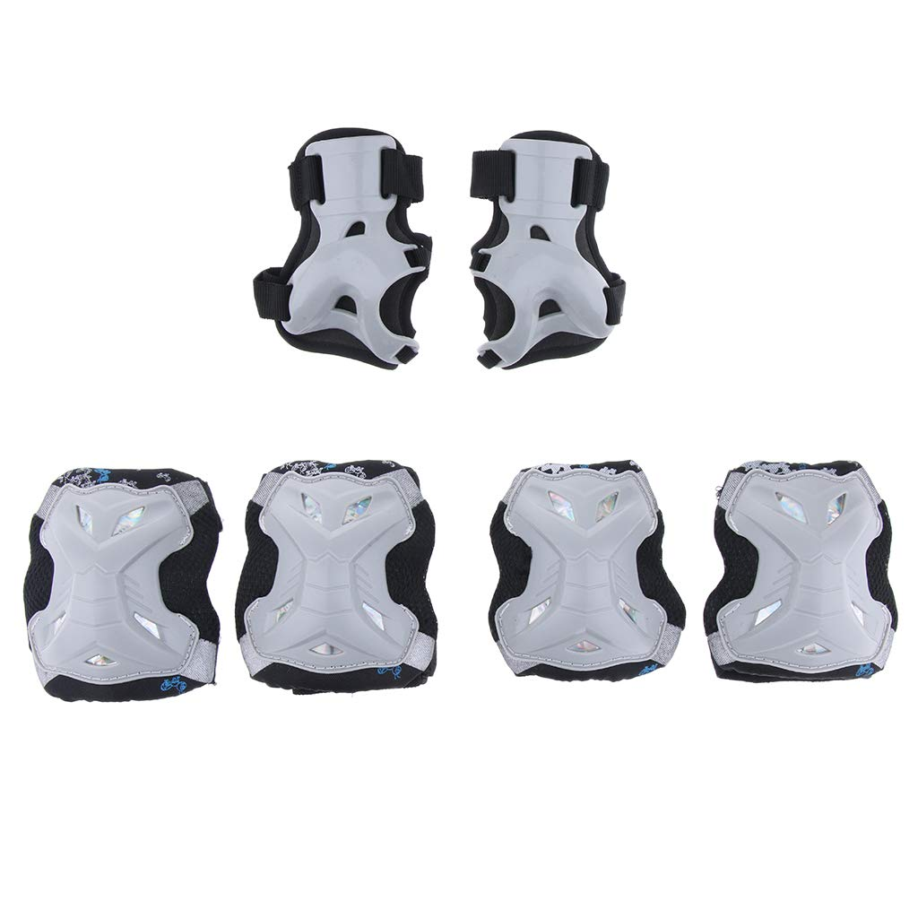 Monopat/ín perfeclan Sets de Rodillera Codera Almohadilla de Mano Acolchado Transpirable Equipo de Protecci/ón para Patinaje sobre Hielo Escalada