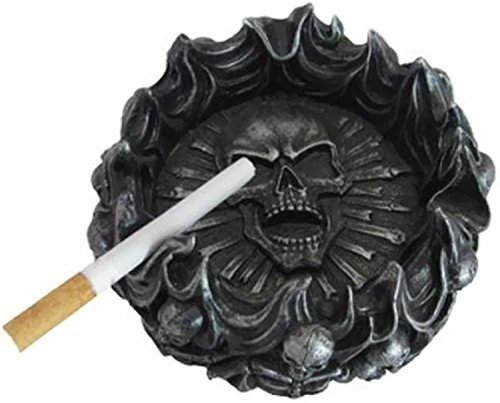 Spooky Halloween Ashtray | Mythical Fantasy Home Decorative Sculptures Ashtray | Medieval and Gothic Gifts and Home Decor (Eternal Pyre)) by DWK