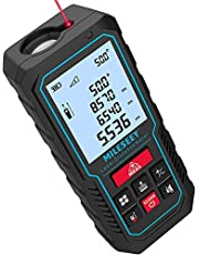 """Laser Measure Device, MiLESEEY 229ft Digital Laser Tape Measure with Upgrade Electronic Angle Sensor, ±2mm Accuracy, Area Measurement,Volume and Pythagoras, 2"""" LCD Backlit,Mute, Battery Included"""