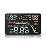 KKmoon Car HUD Head Up Display KM/h & MPH TPMS Tire Pressure Monitor Speed Warning Windshield Project System OBD2 Interface Plug & Play