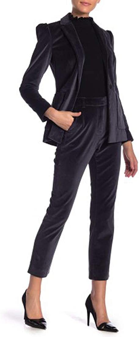 Laundry by Shelli Segal Allover Velvet Skinny Pants