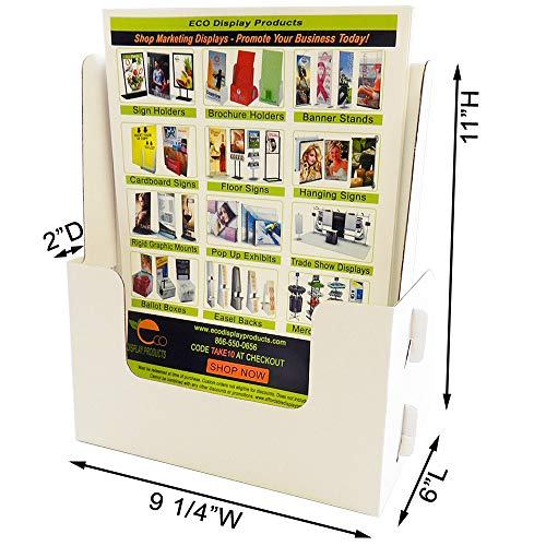 Products Display Affordable (Affordable Display Products Magazine Holder - Holds 8 1/2 x 11 Magazines & Flyers (Carton of 25))