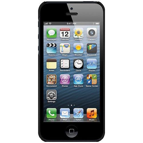 Amzer Schutzschale für iPhone 5 (aufsteckbar, Rautendesign mit Strass) schwarz