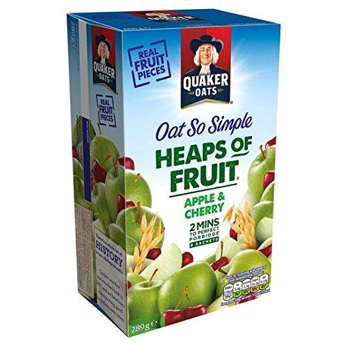 Avena Quaker tan simple de Apple y de la cereza Gachas de 8 x 36,1 g: Amazon.es: Alimentación y bebidas