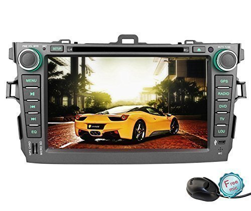 YINUO 8 Inch 800480 HD Touch Screen Car DVD Player GPS Stere