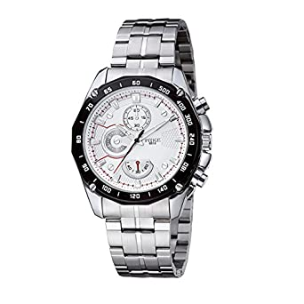 YOYO Sports style male strip waterproof watch list-White