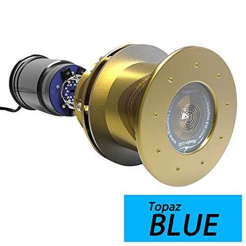 (Bluefin LED Great White GW20 Thru-Hull Underwater LED Light - 9000 Lumens - Topaz Blue)