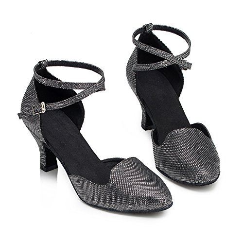 Misu Para Mujer De Negro Zapatillas Danza ABT1BYw6q
