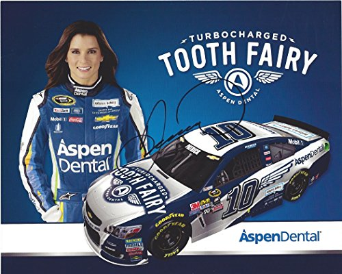 Autographed 2016 Danica Patrick  10 Aspen Dental Racing Turbocharged Tooth Fairy Stewart Haas Team Rare Signed Picture 8X10 Nascar Hero Card Photo With Coa