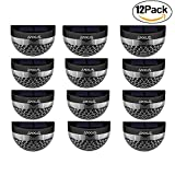 Anxus Solar Lights, Semi-Circle Waterproof 6 LED Solar Lights for Outdoor, Garden, Patio, Stairway(12 Pack)