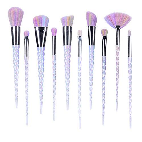 Ammiy Unicorn Makeup Brushes Set Fantasy Makeup Tools Foundation Eyeshadow Unicorn Brushes Kit With …