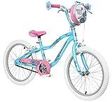 Schwinn Girls' Mist Bike, Blue/Pink Kids Flower Design, 20 Inch Wheel (Age 6+)
