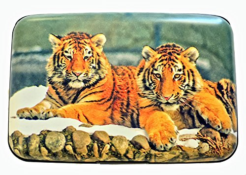 Fig Design Group Tigers RFID Secure Theft Protection Credit Card Armored Wallet Wildlife Cats