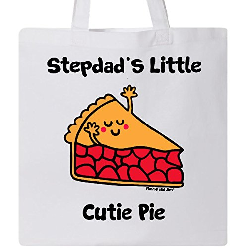 Inktastic - Stepdad's little Cutie Pie Tote Bag White - Flossy And Jim
