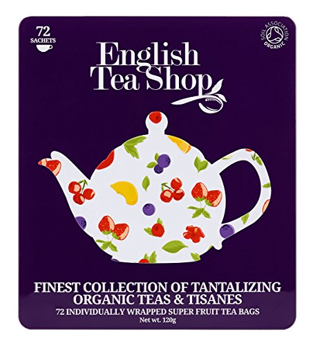 English Tea Shop Assorted Super Fruits Gift Box, 72 Tea Bags (English Fruit)