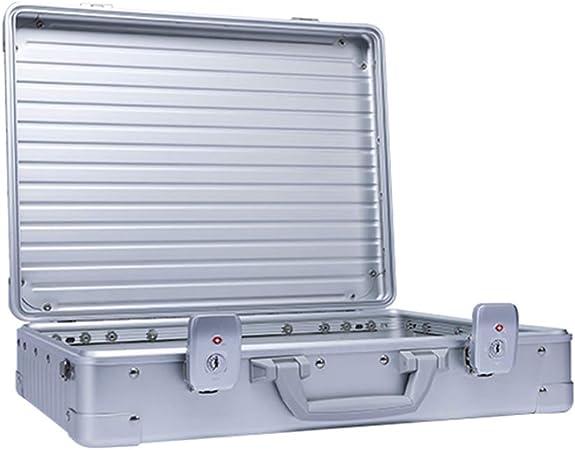 Caja De Herramientas De Aleación De Aluminio Caja De Contraseña Simple Y Ligera Caja De Vuelo De Caja De Transporte Profesional Multifunción, Plata: Amazon.es: Hogar