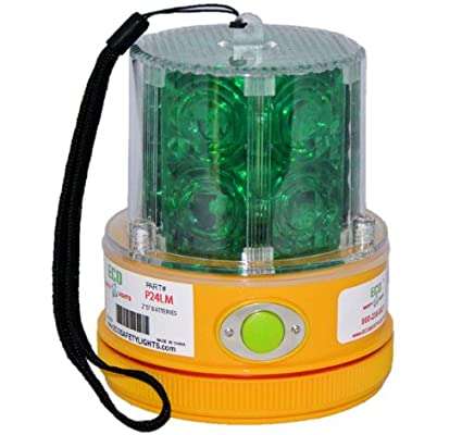 P24LM2 CLEAR WHITE 24 LED PORTABLE SAFETY LIGHT 50 LBS PULL MAGNET PERSONAL HAZARD EMERGENCY WARNING LIGHT