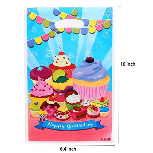 Plastic Party Favor Bags Assorted Colors 50 PCS - Bags Cupcake Treat