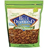 Blue Diamond, Naturals, Whole Almonds, 25oz Bag (Pack of 2)