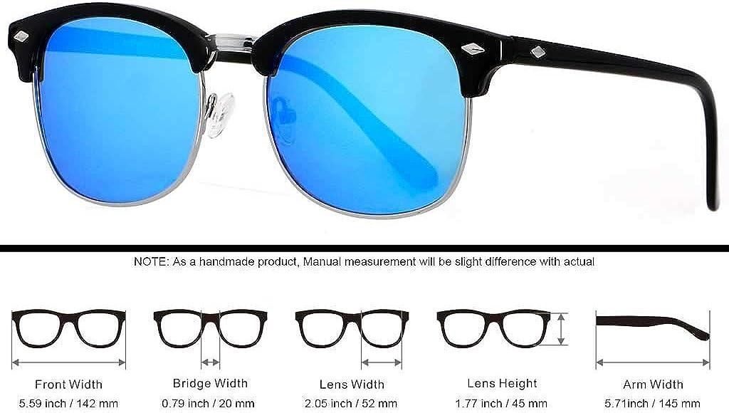 Occhiali da sole polarizzati per uomo donna classico mezzo telaio semi-senza montatura ANDWOOD polarizzato protezione UV