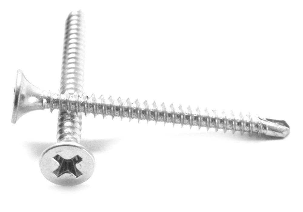 #10-16 x 3//4 Self Drilling Screw Hex Washer Head with Bonded Neoprene Washer Low Carbon Steel Zinc Plated Pk 100
