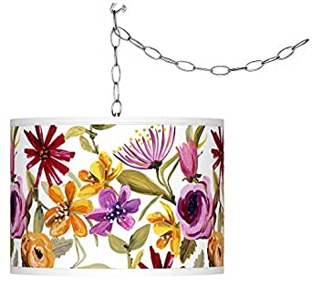 Bountiful Blooms Giclee Glow Plug-In Swag Pendant