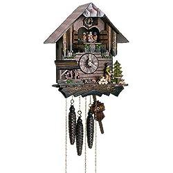 1-Day Black Forest House Children Figurine Cuckoo Clock by Schneider