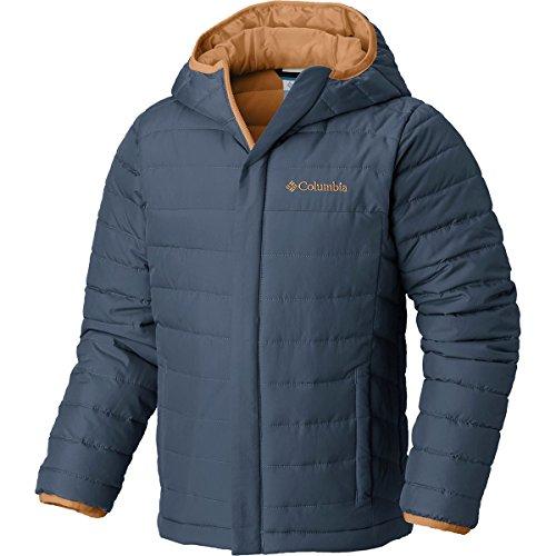 Columbia Boy's Big Powder Lite Puffer Water-Resistant Insulated Jacket, Dark Mountain, X-Large ()