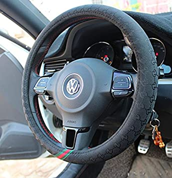 Mayco Bell Microfiber Leather Small Steering Wheel Cover 14-14.25,Black Blue