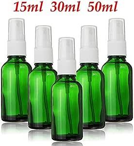 LGYLucky 3PC Verde Botella de Perfume de Cristal de pulverización vacío 15 ml 30 ml 50 ml Fina Niebla pulverizador Vial Botellas Reutilizables para cosméticos de Aceite Esencial,15ml: Amazon.es: Hogar