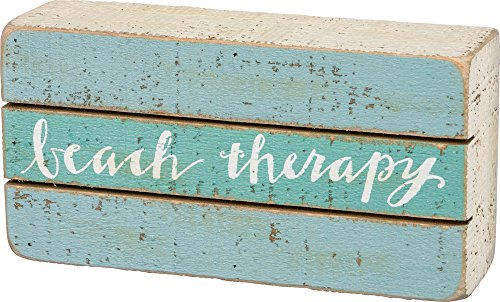 Slat Box Sign - Beach Therapy (Water Ski Wood Sign)