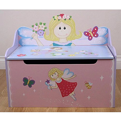 Kids Warehouse Flower Fairy Storage Toy Box Bench