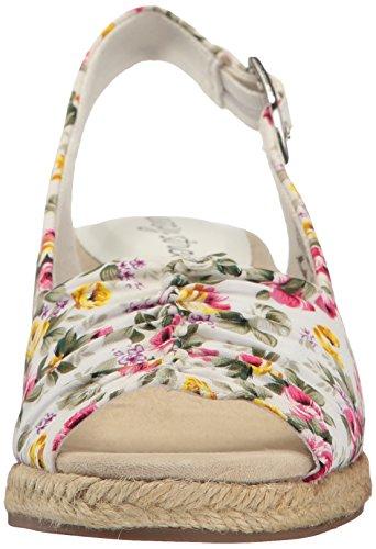 Easy Street Women's Kindly Espadrille Wedge Sandal White Floral newest sale online best place sale online oJ78q7QKx