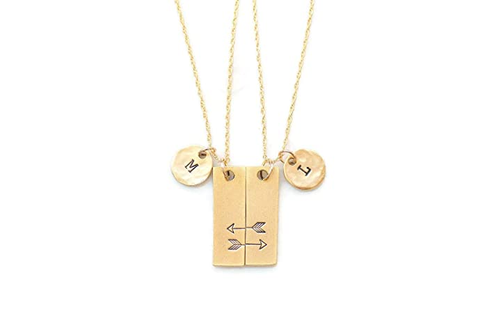 8aa5de103f Amazon.com: Personalized Best Friend Necklaces for 2, Necklace for ...