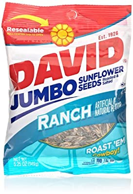 David Jumbo Sunflower Seeds, Ranch, 5.25 Oz from David Seeds