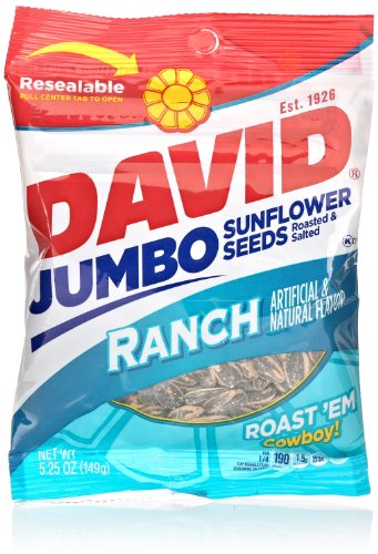 David Jumbo Sunflower Seeds, Ranch, 5.25 Oz