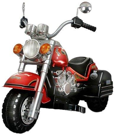 Merske Harley Style Chopper Style Motorcycle, Red by Merske