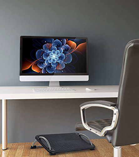 Mount It Ergonomic Footrest Adjustable Angle And Height