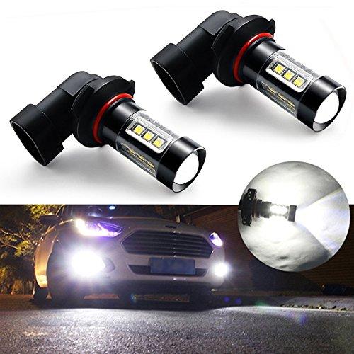 Botepon H10 9145 9140 LED Bulb for Fog Light or DRL, 2000Lumens Extremely Bright 3030 16-SMD Led Bulb 12V 24V (Pack of 2)