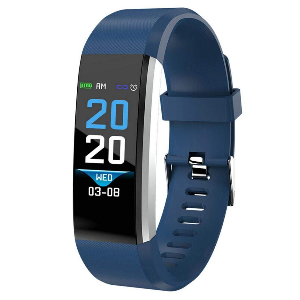 Lovewe Fitness Tracker, Activity Tracker Watch with Heart Rate Monitor, Waterproof Smart Fitness Band with Step Counter, Calorie Counter, Pedometer Watch for Kids Women and Men, Android iOS (Blue)