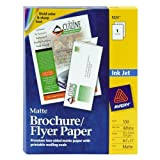 Wholesale CASE of 10 - Avery Inkjet Tri-fold Matte Brochures-Ink Jet Brochures, 8-1/2''x11'', 37lb., 100/BX, Matte White